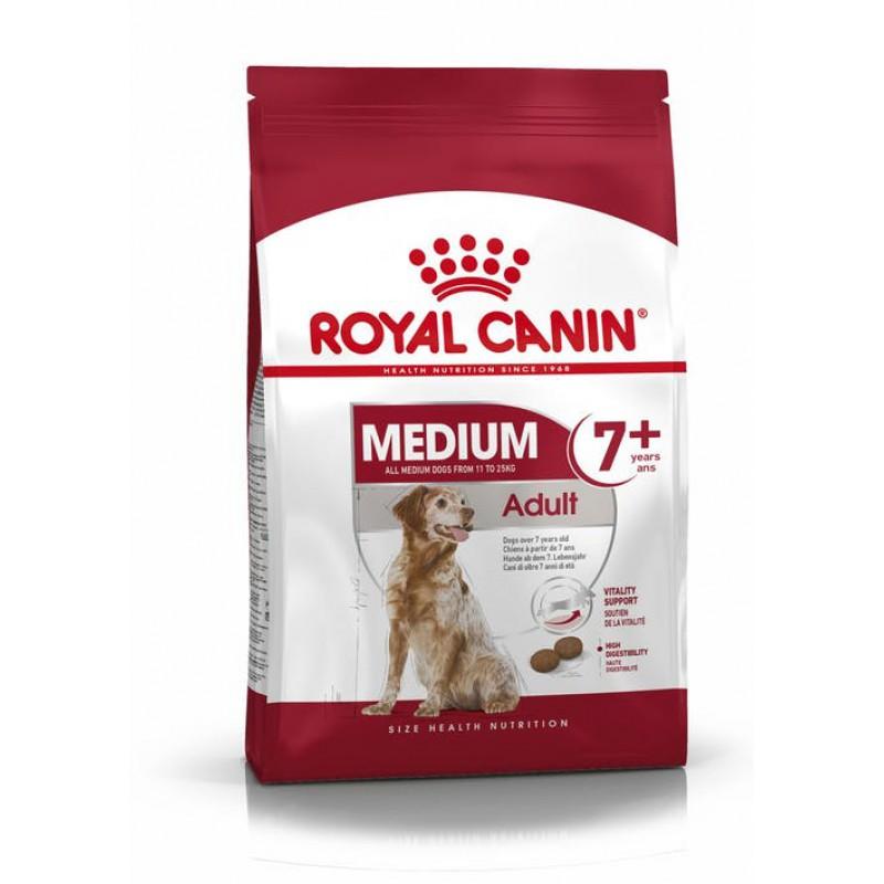 Корм Royal Canin Medium Adult 7+ для собак, 15 кг
