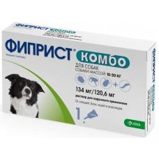 Фиприст Комбо для собак 10-20 кг, капли на холку, 1,34 мл