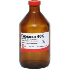 Глюкоза 40%, раствор для инъекций, 100 мл