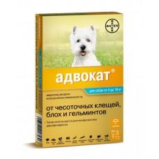Адвокат 100, капли для собак 4-10 кг, 3 пипетки