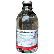 Глюкоза 5%, раствор для инъекций, 400 мл