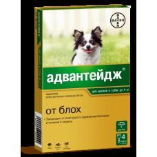 Адвантейдж для собак до 4 кг, 4 пипетки