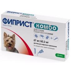 Фиприст Комбо для собак 2-10 кг, капли на холку, 0,67 мл